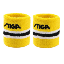 Stiga Table Tennis Ping pong Wristband One Size Yellow -Sold by Pair