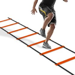 Weston Speed and Agility Ladder Soccer Fitness Exercise Training Running Hurdles With Portable Carrying Bag