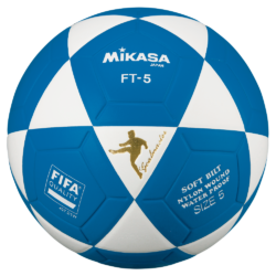 Mikasa FT5 Goal Master Soccer Ball Size 5 Official FootVolley Ball White Blue