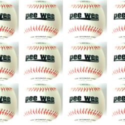 Weston Pee Wee Baseball Little League Sponge 9 Inches White 1 Dz