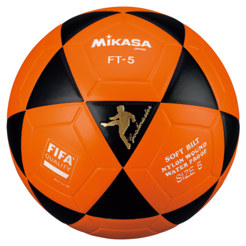 Mikasa FT5 Goal Master Soccer Ball Size 5 Official FootVolley Ball Black Orange