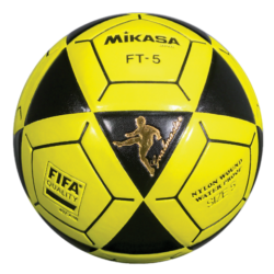 Mikasa FT5 Goal Master Soccer Ball Size 5 Official FootVolley Ball Black-Yellow