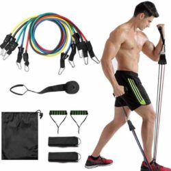 Resistance tubes for exercises - bands 5 levels set