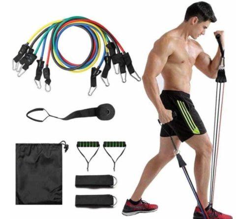 Resistance tubes for exercises - bands 5 levels set