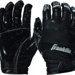 Franklin Sports Football Receiver Gloves Extra-Grip Premium Adult Black