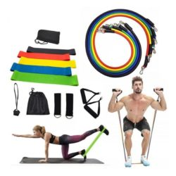 Resistance Bands + Resistance Tubes For Exercises - 5 Levels Set (2 bag set)