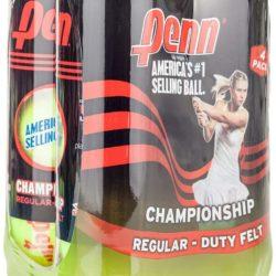 Penn Championship Regular Duty Felt Tennis Balls 4 Cans (12 Balls)