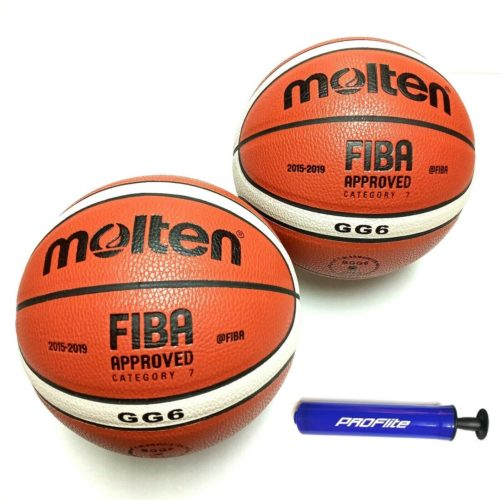 Molten GG6 Composite Basketball Intermediate Size 28.5 Inches 2 Pack
