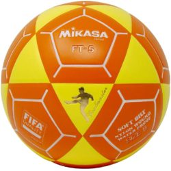 Mikasa FT5 Goal Master Soccer Ball Size 5 Official FootVolley Ball White-Yellow/Orange