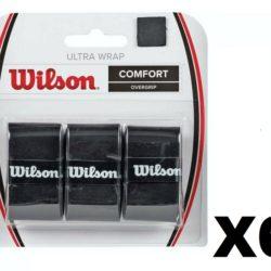 Wilson Ultra Wrap Tennis Overgrip Black - 6 Pack (18 pc)