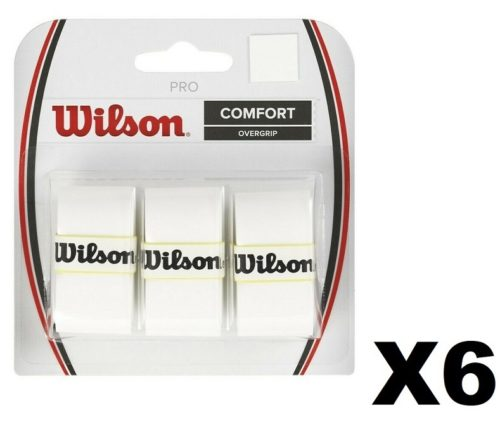 Wilson Pro Overgrip Tennis Grip White - 6 Pack (18 units)