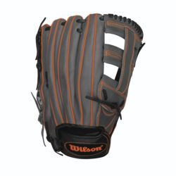 Wilson 6 4 3 Slowpitch Softball Glove Black Coal Neon Orange 13 Inches RHT