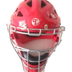 Tamanaco Baseball Softball Adult Catcher´s Mask Helmet Red