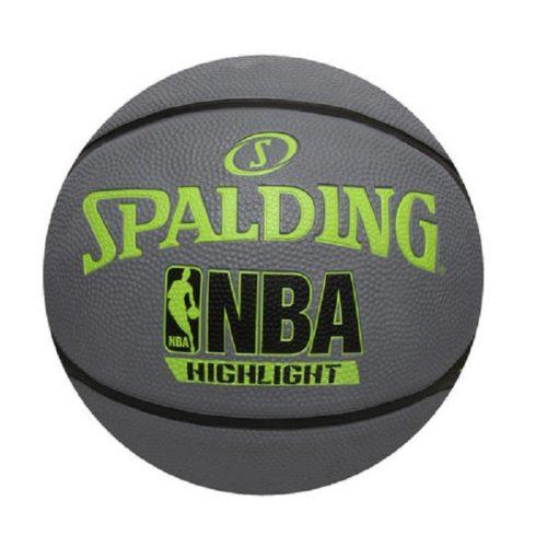 "Spalding Highlight Green-Gray Basketball RBR Size 29.5"""