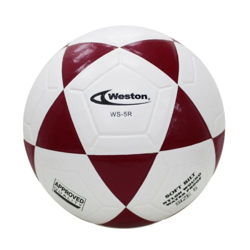 Weston WS5R Soccer Ball Footvolley Ball Size 5 Red White