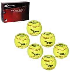 Weston S200Y Softball 12 Inches Yellow 6-Pack