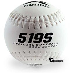 Runic 519S Softball 12 Inches White 1 Dozen