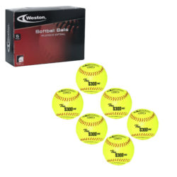Weston S300Y Softball 12 Inches Yellow 6-Pack