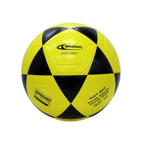 Weston WSS62 Indoor Soccer Futsal Official Size 3.8 Yellow Black