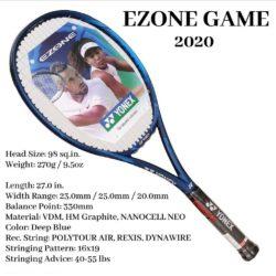 Yonex Ezone Game Tennis Racquet 270g 4 1/8 Inches