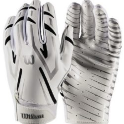 Wilson The Clutch Skill Receiver Football Glove Youth White Size L