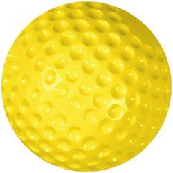 """Champro Pitching Machine Balls Soft Dimple Baseball 9"""" Yellow 1 DZ"""