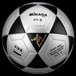 Mikasa FT5 Goal Master FIFA Soccer Ball Size 5 Official FootVolley Ball Black Grey