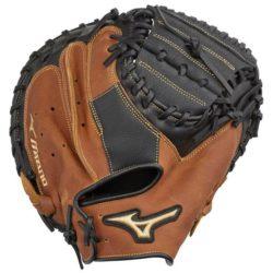 Mizuno Samurai GXC95Y2 Youth Baseball Catcher's glove 33 Inches RHT Black-Brown