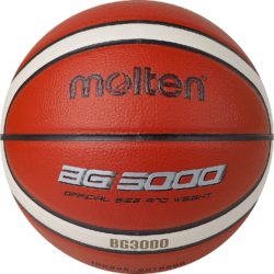 Molten BG3000 Basketball Indoor/Outdoor Synthetic Leather Size 7 Orange-Ivory