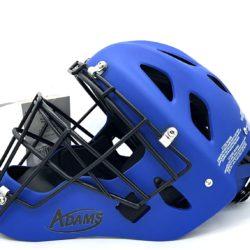 Adams High Performance Matte Baseball Catcher's Helmet Adjustable One Size Fits Most (Blue)
